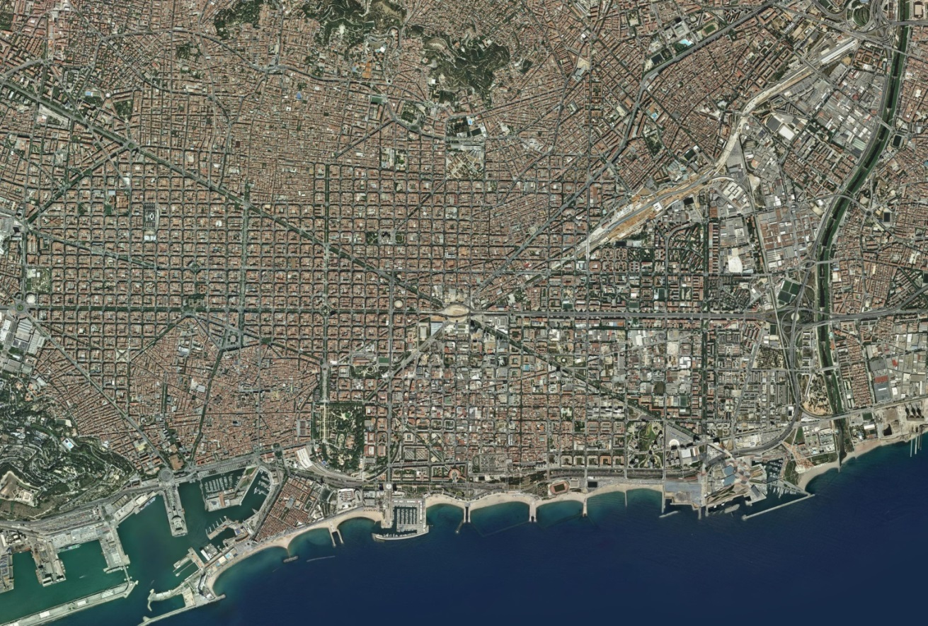 Orthophoto of Barcelona